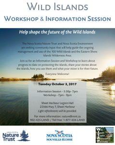 Wild Islands Workshop & Information Session (Oct 3)